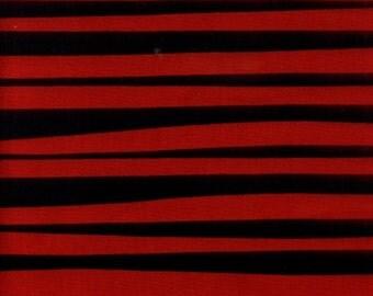 Alexander Henry Stockade Stripe Red Cotton Fabric BTY