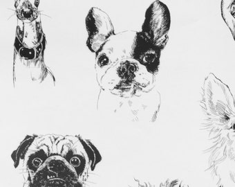 Alexander Henry Bow Wow Wow Cotton Fabric BTY