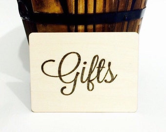 Gifts sign for rustic wedding decoration gift table sign