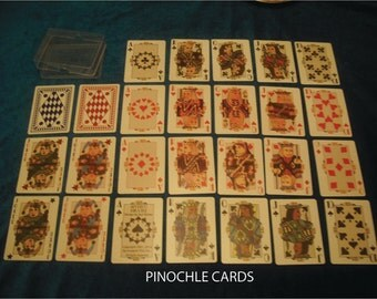 Art Deco Playing Cards ~ Pinochle Deck (poker size) - 16.95/pair