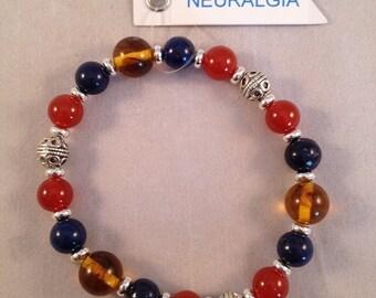 Healing Gemstone Stretch Bracelet for Neuralgia Sufferers