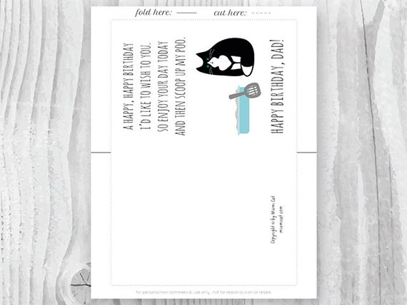 Printable Funny Birthday Cards Black and White Cat Cards Cat – Printable Birthday Cards Black and White
