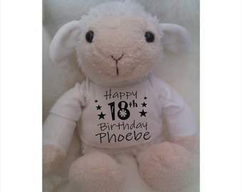 Personalised Printed Age Birthday SHEEP LAMB, 1st, 13th, 16th, 18th, 21st, 30th, 40th, 50th, 60th, 70th, 80th, 90th, 100th