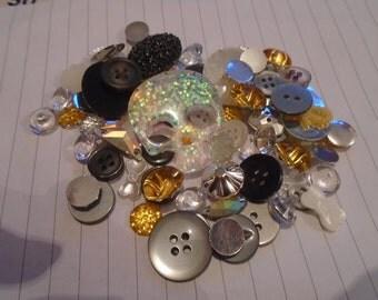 Glittery sugar skull Decoden / embellishment bundle