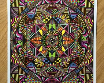 Kaleidoscope Print 13x19