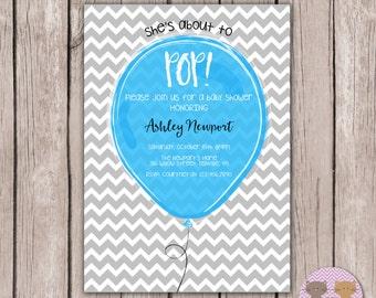 PRINTABLE- Baby Shower Invite- Neutral Baby Shower Invite- Boy Baby Shower Invite- 5x7JPG