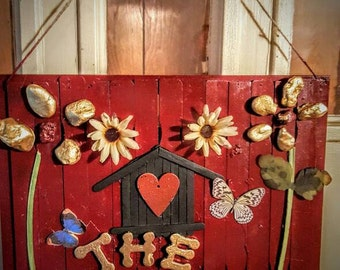 Rustic Personalized Name Plate for Outside Door or Camper