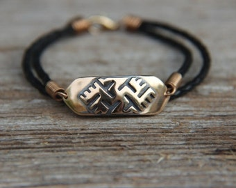 Bronze bracelet with Luck Cross