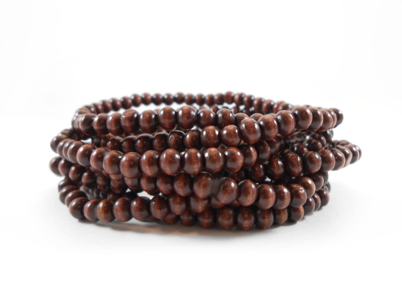 beaded bracelet wood bead bracelet 4mm wooden bead