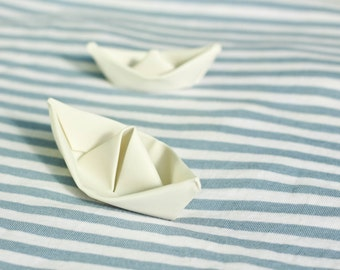 Origami Sculpture Boat. Porcelain White Boat. Paper Anniversary Gift. Ceramic Miniature. Small Decorative Origami Design by CONCEPTstudio.