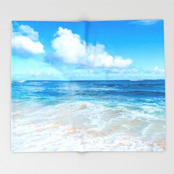 Hawaiian Beach Blanket: Beach Fleece Blanket Ocean Surf Throw Beach Blanket Hawaii