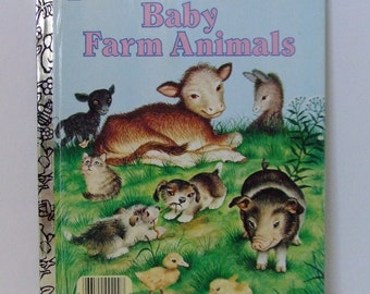Golden Book Baby Farm Animals 1958