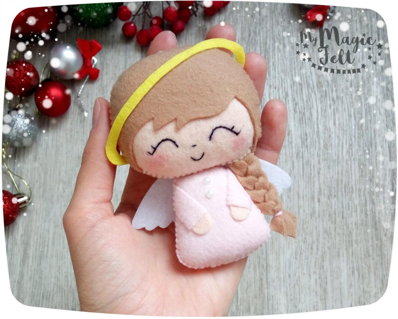 Adornos navide os fieltro angel navidad decoraci n linda - Adornos navidenos de fieltro ...