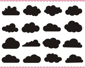 wolken svg cloud clipart clipart wolken wolken silhouette cliparts ...