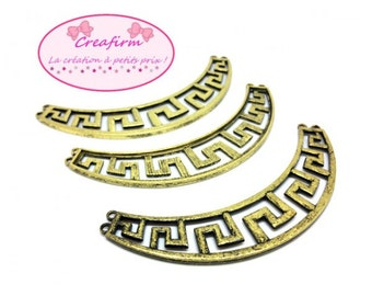 3 connectors geometric Bronze breastplates