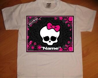 Monster High Skull Personalized T-Shirt