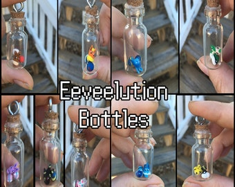 Pokemon Bottle Necklaces: Eevee Evolutions