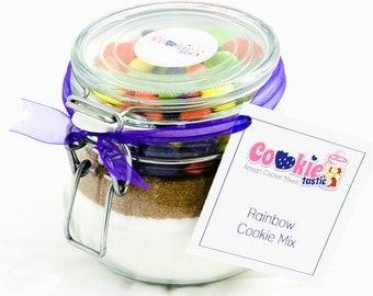 Rainbow Cookie Mix Jar, Birthday Gift, Present