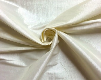 "Ivory Taffeta Stretch Fabric 2-Way Stretch 58"" Wide By The Yard"