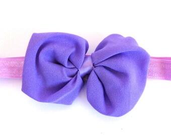 Purple Soft baby or toddler headband!