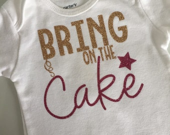 "Birthday ""Bring on the Cake"" Onesie"