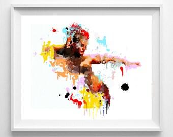 Flamenco print,art,painting,watercolor,wall art,home decor Pic no 115