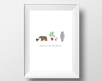 The Office Show Quote Print - Bears, Beets, Battlestar Galatica