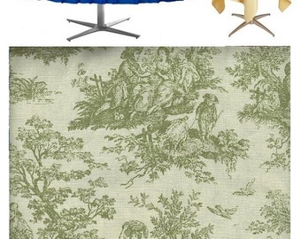 Table Topper Overlay Tablecloth Jamestown Green