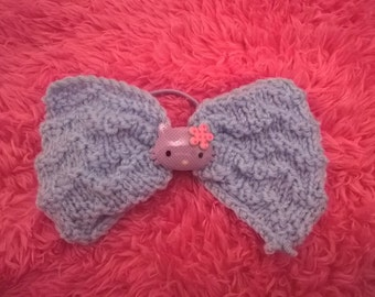 Knitted Hello Kitty Bow