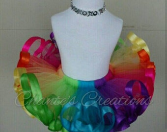 Bright colors, rainbow tutu