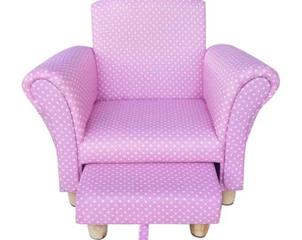 Kids Toddler Pink Childrenu0027s Chair Armchair U0026 Footstool. Floral Fabric, Pink  Armchair, Chaise