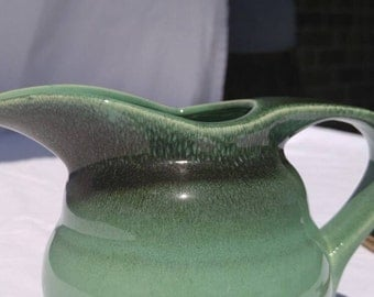 Vintage ombre green pitcher