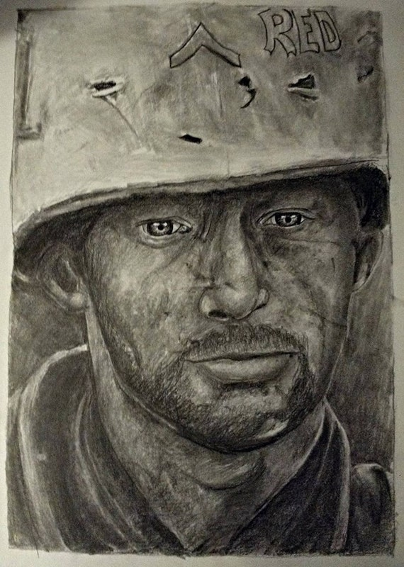 Military Special! Military in uniform get 50% off of your order!  Custom graphite portrait drawing from your photo.