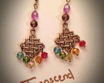 Swarovski Crystal Reiki Charged Chakra Earrings