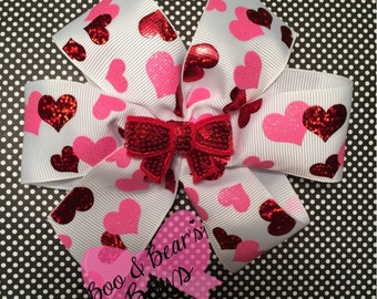 Valentine's heart bows