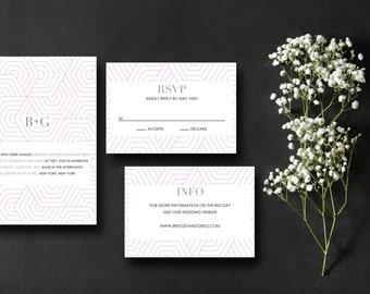 Printable Wedding Invitation Suite Geometric
