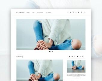 Glamour- Minimalist Wordpress Theme  —RESPONSIVE Wordpress Theme — Self-hosted Wordpress Blog Theme — Feminine Website