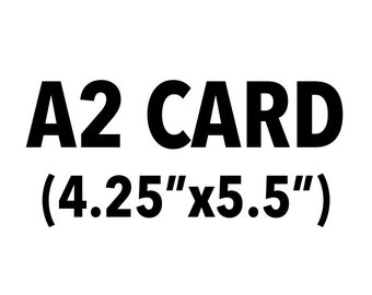 ANY single card- size A2