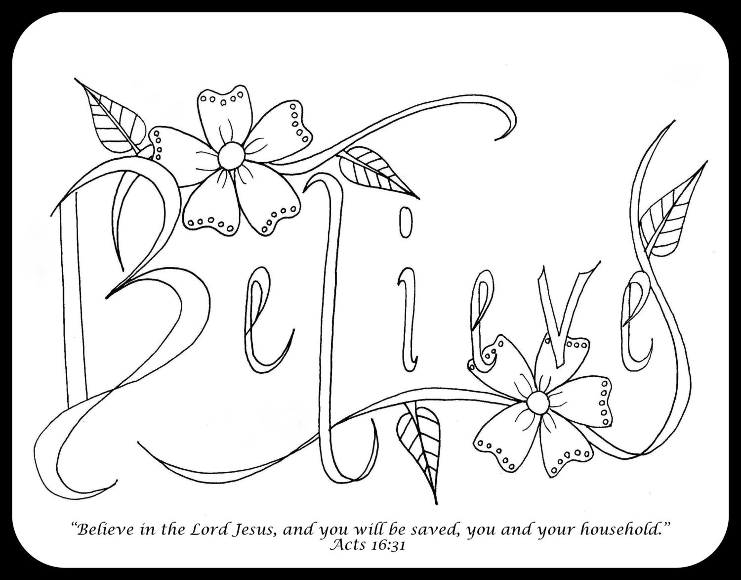 Bible journaling coloring pages 4 pages set by for Bible journaling coloring pages