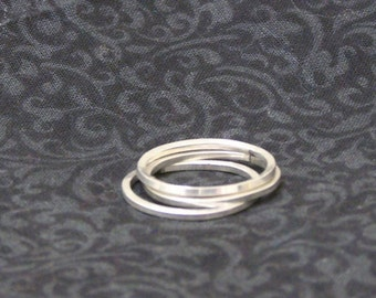 Sterling Silver Stacking Rings (3 in a Set)