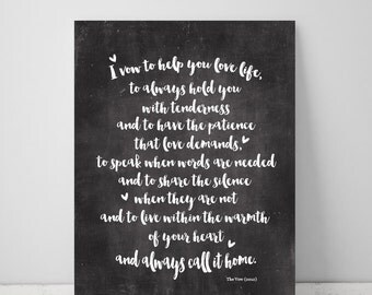 Wedding Vows, Love Print, Wedding printable, wedding decor, love printable, love sign, bedroom decor, wall decor, love quote, wedding art