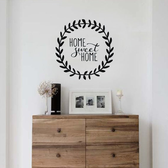 home sweet home interiors home sweet home vinyl decal home decor by preppypeacockapparel 18435