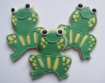Frog sugar cookies