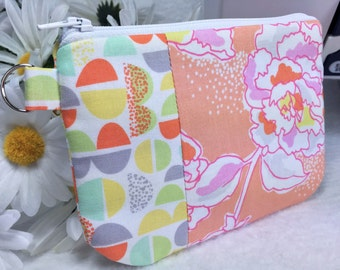 Cosmetic Bag Floral Zipper Pouch, Gadget Case, Coupon Pouch, Glasses Case Cell Phone Case, Cosmetic Bag Pencil Case