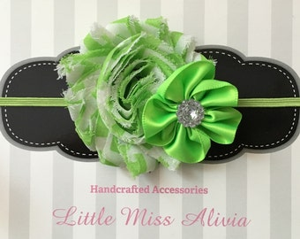 Green Double Flower Headband