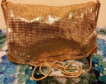 Glomesh Bag Shoulder Crossbody Gold