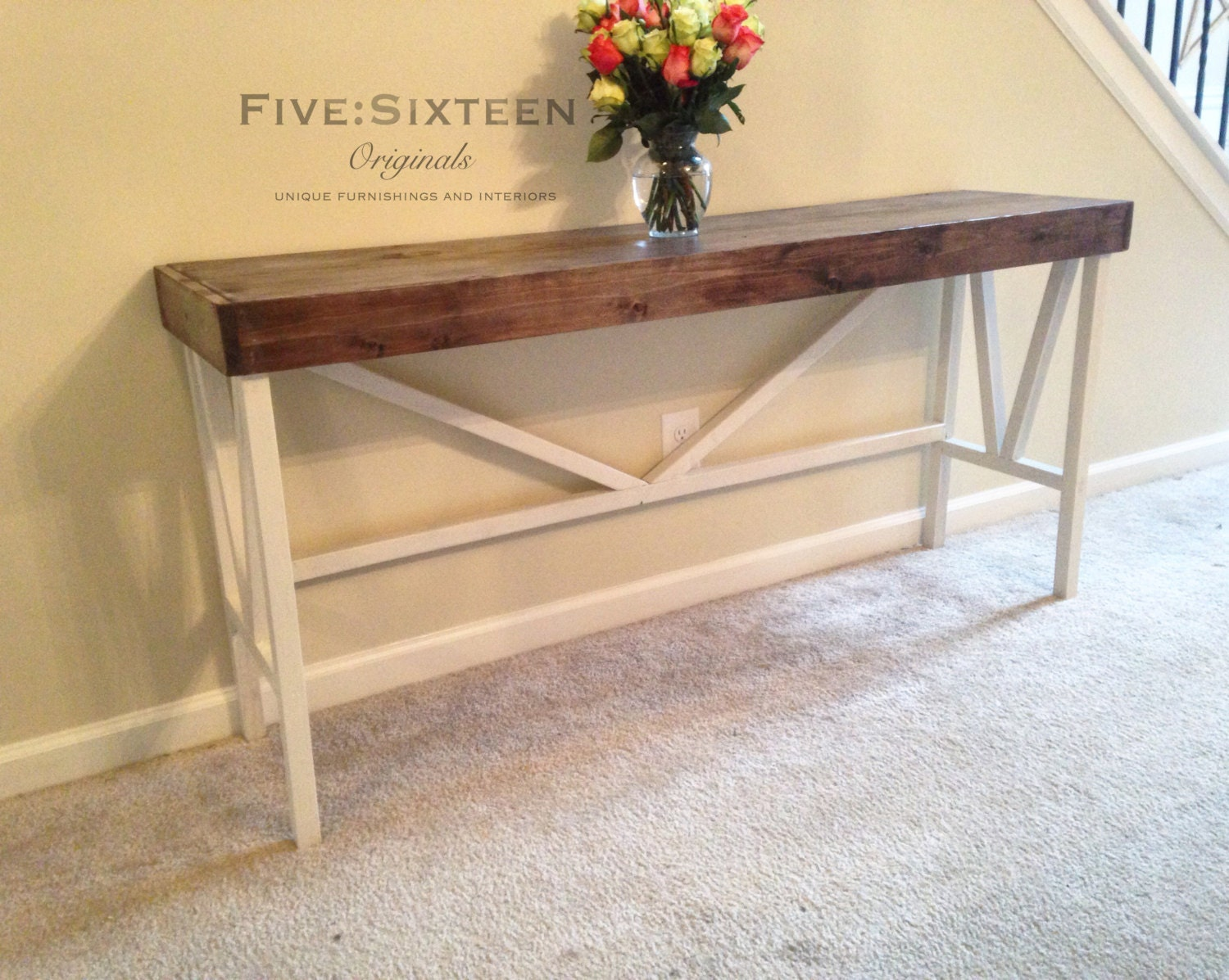 Custom Console Buffet Or Entryway Table