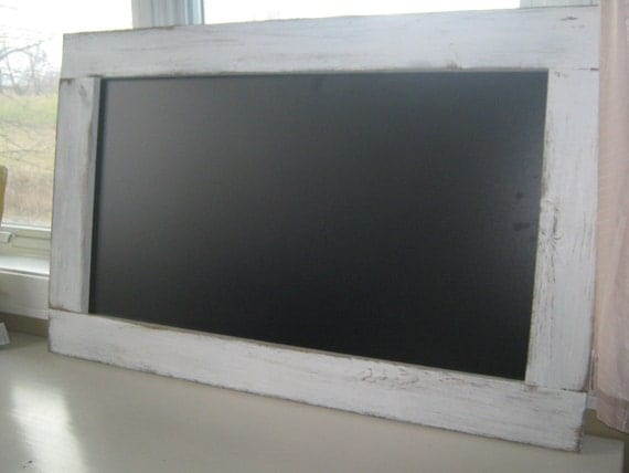 Rustic white distressed extra large chalkboard farmhouse chalk board