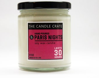 Paris Nights 8 Ounce Scented Soy Wax Candle