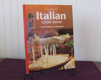 Sunset Italian Cookbook, Vintage Cookbook, 1989